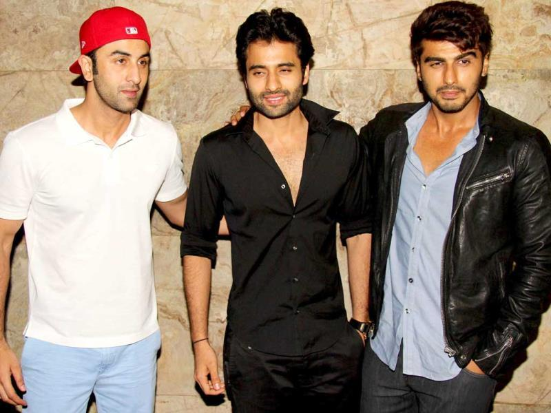 Bollywood actors Ranbir Kapoor and Arjun Kapoor were seen at the screening of their close buddy Jackky Bhagnani's recently released film, Youngistaan.