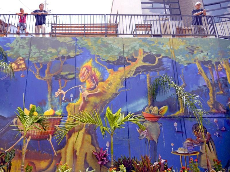 View of a mural, as part of the project