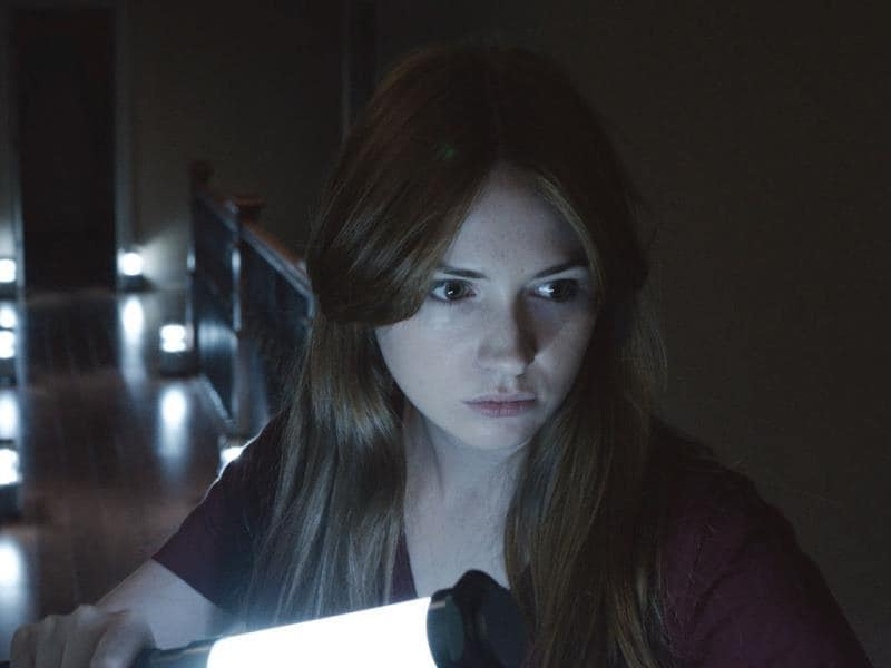 Oculus is an upcoming horror film starring Karen Gillian and Katee Sackhoff, directed and written by Mike Flanagan.