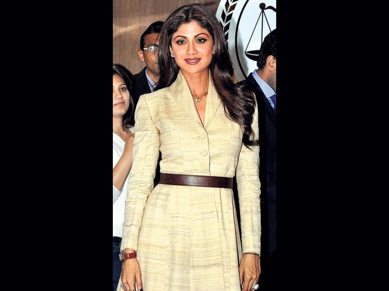 Shilpa Shetty Kundra, a regular feature these days on the party circuit, was present at a press conference (Photo: Viral Bhayani)