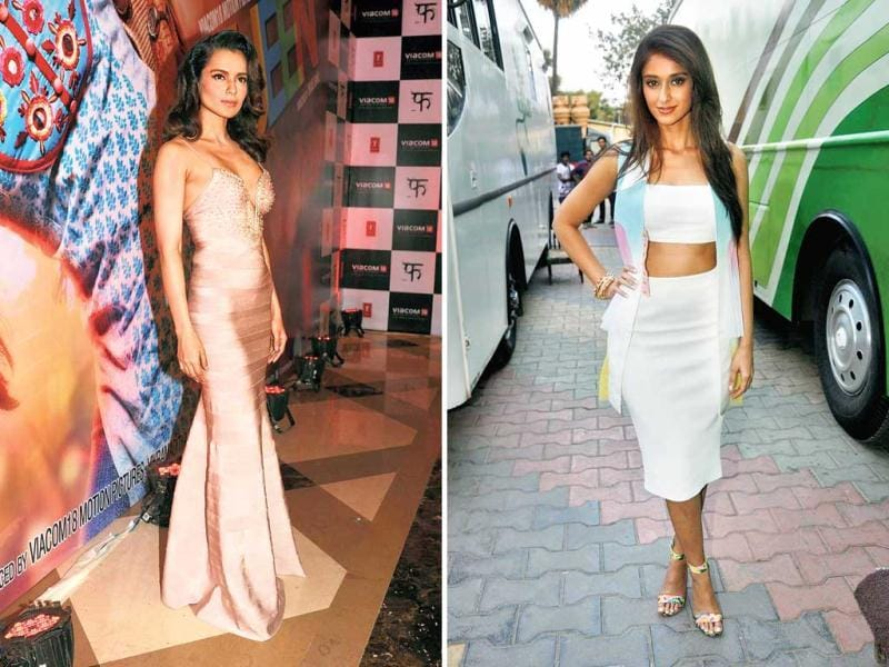 The good: Ileana D'Cruz on the sets of a reality show on March 25 and Kangana Ranaut at an event on March 26 | OURTAKE: Kangana's the girl of the moment, with everything going her way. She's even making an otherwise-tacky bandage dress look this good! This casual, not-too-accessorised look is just right for ­summer, and Ileana nails it.