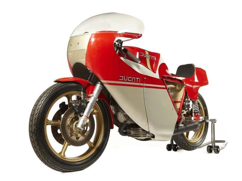 1978 Ducati 900 NCR : As already mentioned, bikes with a racing pedigree also rev up the prices at auction. This model cemented its place in racing legend when Mike Hailwood rode one to victory at the Isle of Man in 1978 despite being in his late 30s at the time. Ducatis are great machines, but when tuning outfit NCR get their hands on them, they become something all the more miraculous and desirable as was the case with this model. As well as the folklore surrounding this model, the reason it went for $175,500 (€127,562) in Las Vegas in January is because it's straight from the Silverstone museum. It has never raced and is still in showroom condition. Photo:AFP