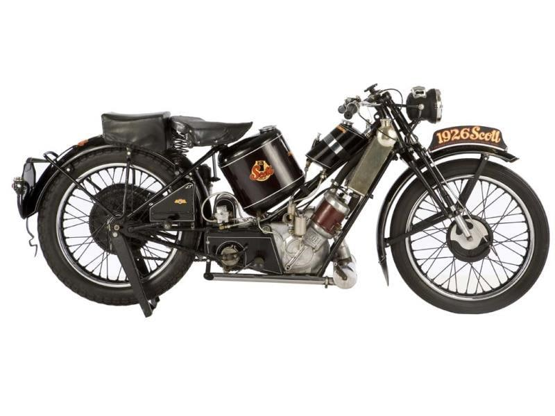 "The ex-Steve McQueen-owned, Von Dutch1929 Scott 596cc Super Squirrel : The Pontiff is by no means unique in his ability to drive up auction prices. There's also the McQueen factor. If a motorbike belonged to the late actor it could go for up to 10 times the normal price. And, if one of his bikes also happens to have been restored by or customized by Kenny ""Von Dutch"" Howard, then the sky is potentially the limit. This old McQueen bike, with a unique Von Dutch paint job went for $276,000 (€197,892) back in 2009 and is number 26 on the all-time list. Photo:AFP"
