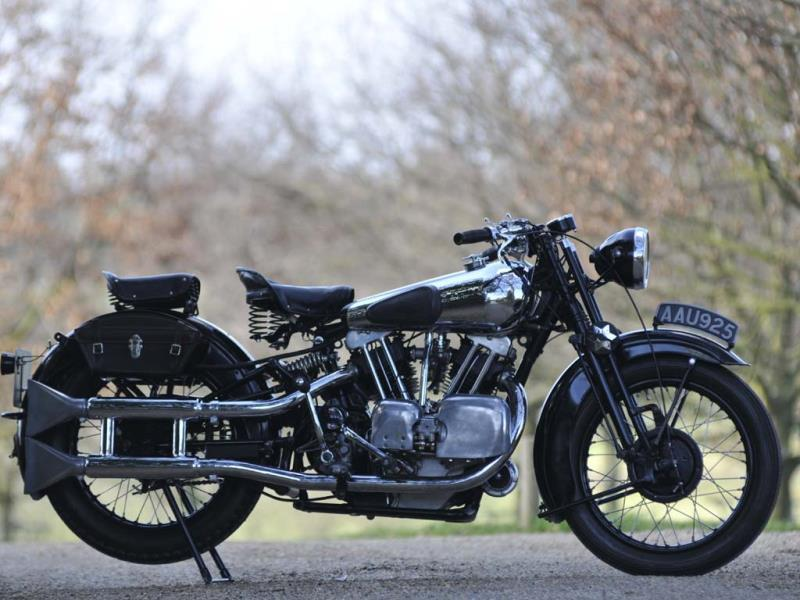 The ex-Murray Motorcycle Museum,1934 Brough Superior 996cc SS100 : US talk show host Jay Leno never tires of telling the story of how everyone called him crazy when he went out and spent $55,000 on a Brough Superior SS100 back in the 1980s. Three decades on, Leno's the one that's laughing, all the way to the bank. The bike is the most coveted among collectors and has a habit of selling for way in excess of $200,000 at auction. While the British had Brough Superior, the US had Crocker. Both companies were at the top of their games in the 1920s and 30s and both companies built technologically advanced, premium luxury bikes. However, Crocker's road bikes are even rarer still, only a handful of these V-twins are out there. But the ones that were on the road were faster than anything else. Crocker used to guarantee its bikes were faster than a Harley or an Indian or your money back. This one went for $302,000 (€219,508) including premium in 2012. But why? Firstly, its creator, George Brough was a true showman and knew how to play the media to build both his and his creations' reputation. Second, it was a very good and a very fast bike (it's called the SS100 because it was guaranteed to do 100mph) particularly for the 1920s and 30s. And finally, it's the quality. Mr Brough didn't build the bikes, his factory simply assembled them from the best proprietary parts. This made them extremely expensive and extremely rare. Only 1000 Brough Superiors survive. This one sold for £242,300 (€292,738/ $39,0000) including. premium in April 2012. Photo:AFP