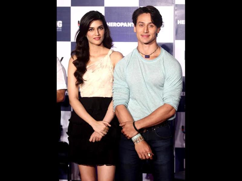 Tiger Shroff and Kirti Sanon at the trailer launch of Heropanti.
