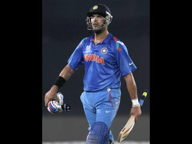 Yuvraj Singh won the Player of the Tournament award in the 2011 World Cup. (Reuters Photo)