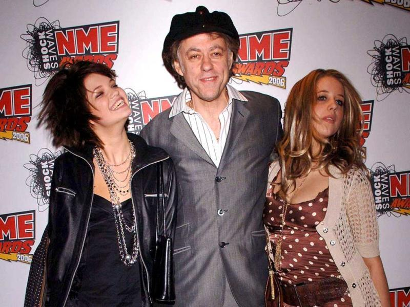 In this file photo singer Bob Geldof is seen with his daughters Pixie, left, and Peaches at the NME Awards 2006 in London. (AP)
