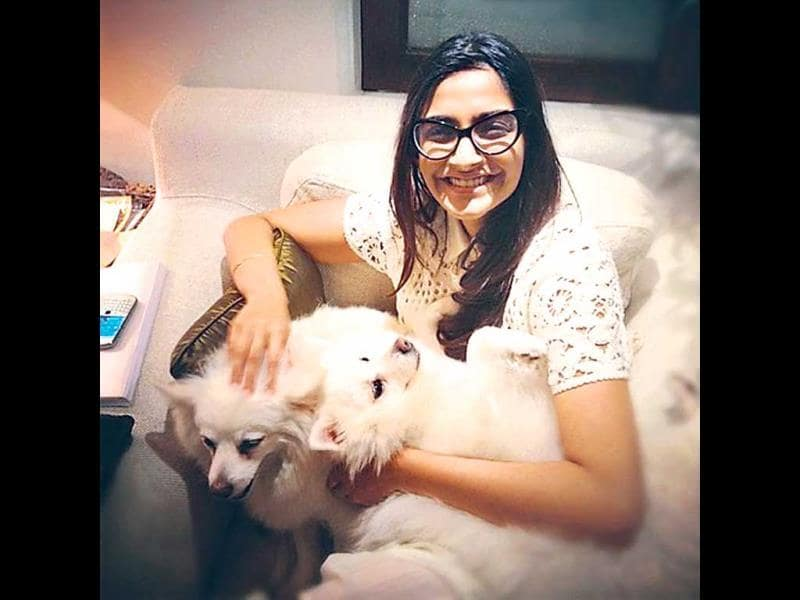 Sonam Kapoor has adopted three abandoned dogs — two pomeranirans, Bacardi and Coke, and a mix breed, Feather.