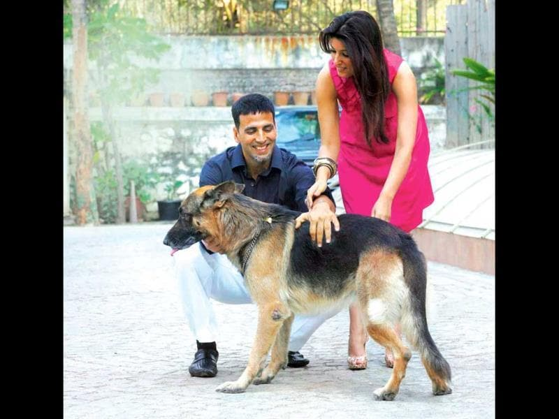 Akshay Kumar and Twinkle adore their two German Shepherds — Okie and Cleo. They call them family.