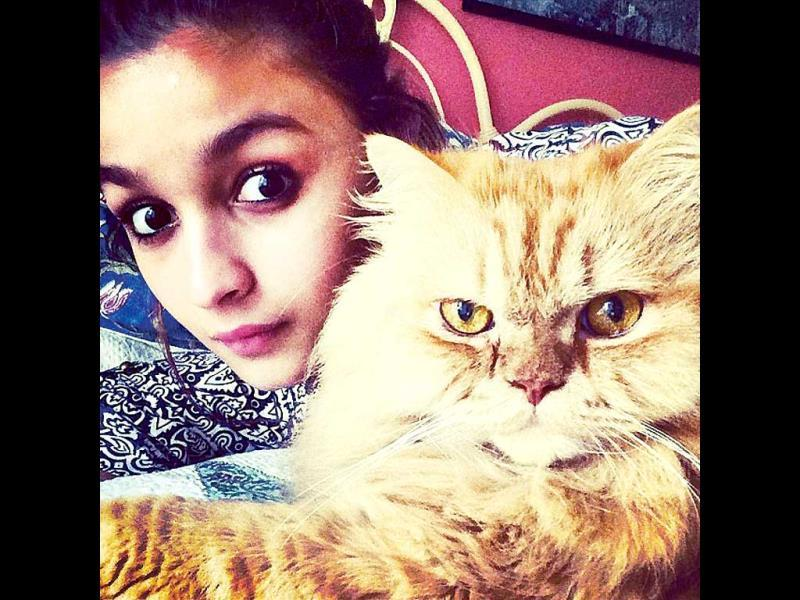 Alia Bhatt has two cats named Sheeba and Pika.
