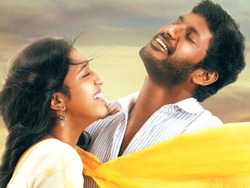 Naan Sigappu Manithan directed by Thiru and produced by UTV Motion Pictures, stars Vishal, Lakshmi Menon and Iniya.
