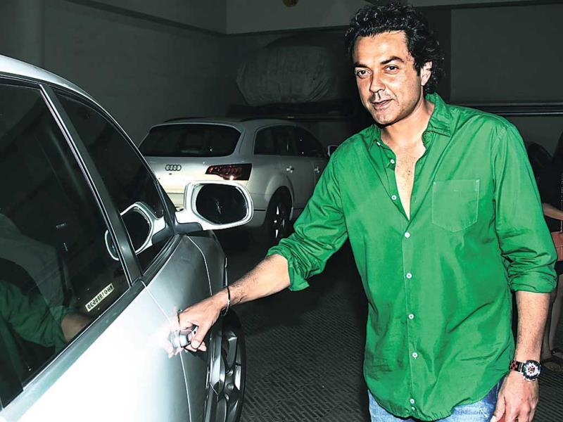 Bobby Deol at a house warming party organised by Huma Quereshi and Saqib Saleem.