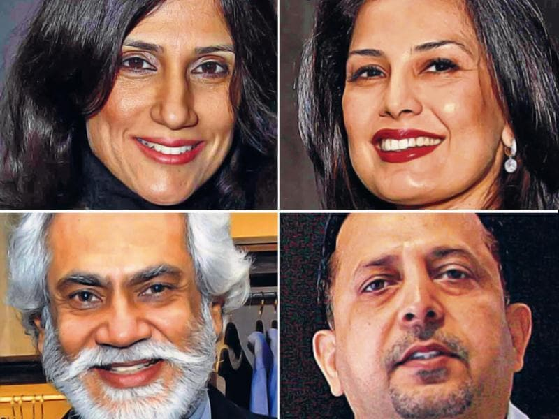 Meet the jury: noted designers Rina Dhaka, Ritu Beri, Fashion Design Council of India president Sunil Sethi and ace lensman Rohit Chawla (clockwise), along with HT City Editor Sonal Kalra.