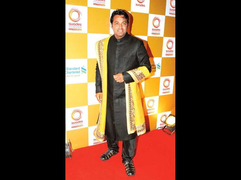Leander Paes spotted in Mumbai.