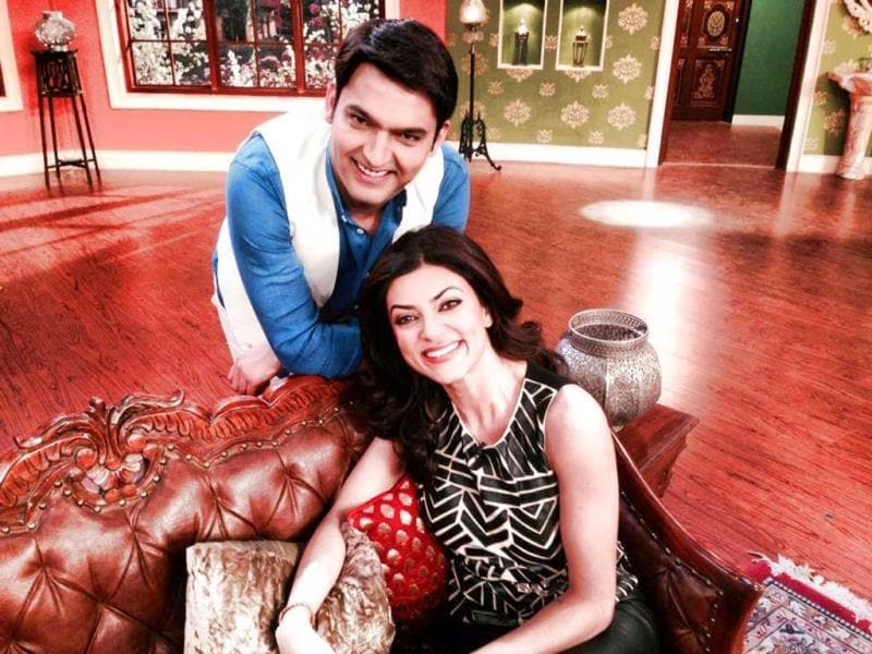 Kapil Sharma is happy to have Sushmita Sen on Comedy Nights with Kapil.