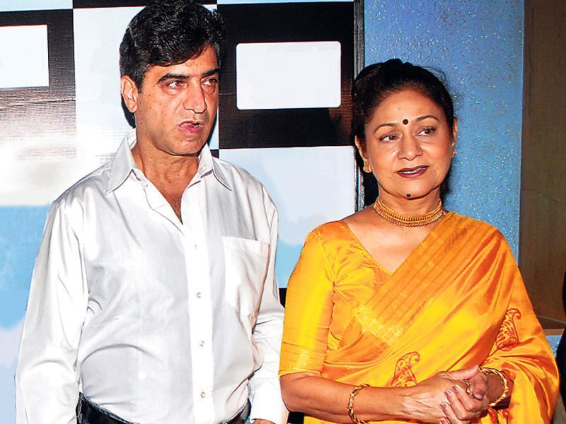 Siblings Indra Kumar and Aruna Irani, who have rarely been shot together at an event in Mumbai.
