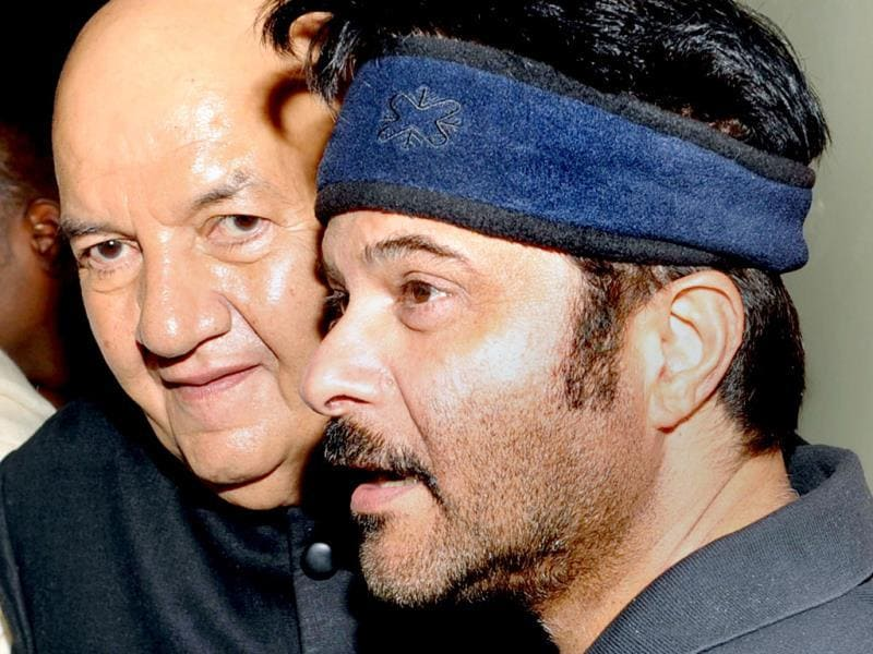 Prem Chopra poses with Anil Kapoor.