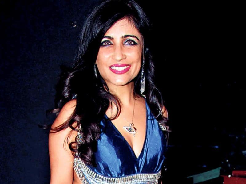 Shibani Kahsyap at an awards' function in Mumbai.