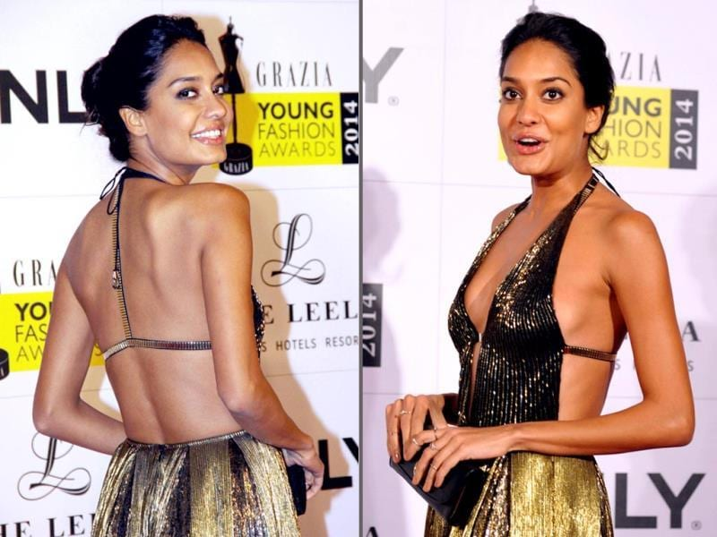 Actor Lisa Haydon during the Grazia Young Fashion Awards 2014. (PTI Photo)