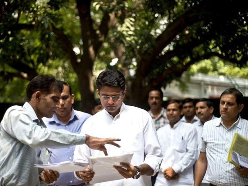 File photo of Sachin Pilot, Congress candidate from Ajmer. (AFP Photo)