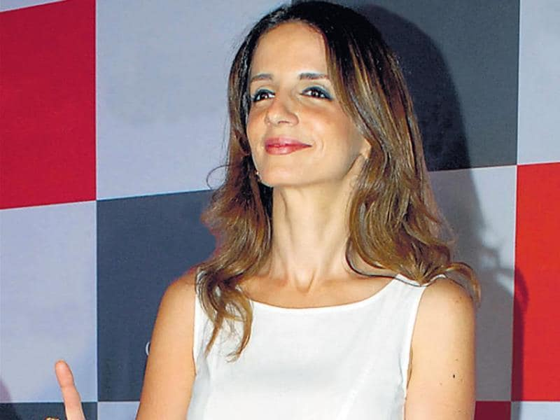 Sussanne Roshan at an event in Delhi. (Photo: Prodip Guha)