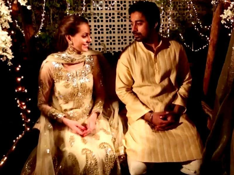 Love all over: Rannvijay Singha, Priyanka Vohra at their Roka. Browse through for pics from their wedding ceremonies.
