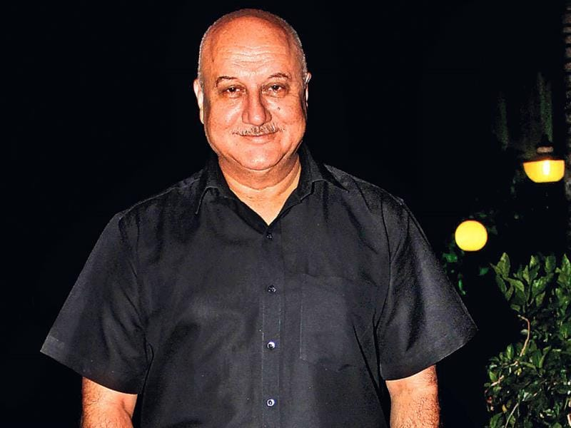 Anupam Kher spotted at a Mumbai party.
