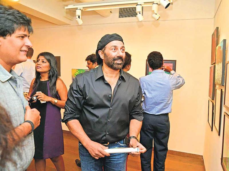 Sunny Deol was also spotted at a charity art exhibition in Kala Ghoda.