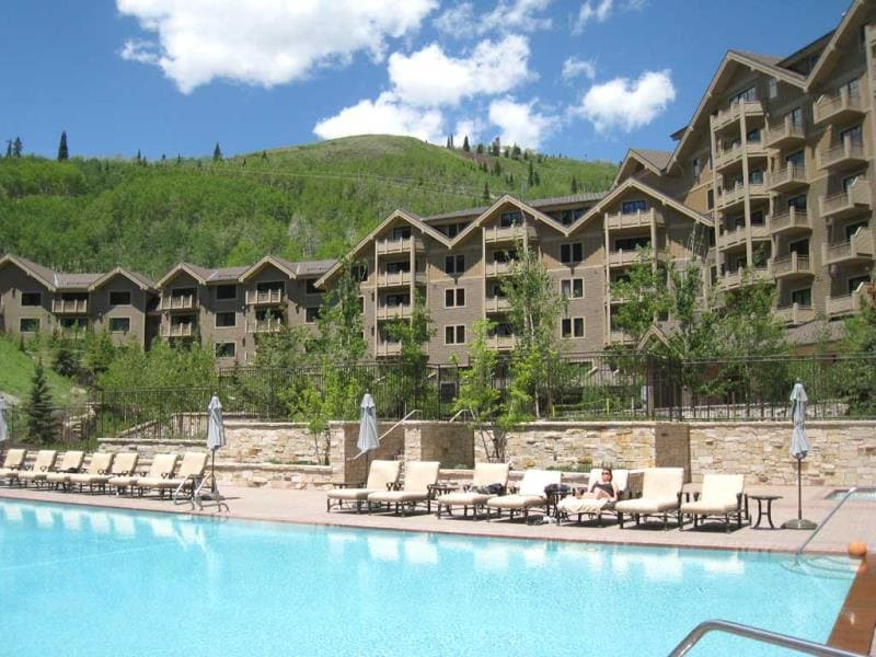 Montage Deer Valley, Park City, Utah: built and landscaped using indigenous materials, the resort uses a comprehensive waste management program to limit what it sends to the landfill. (AFP)