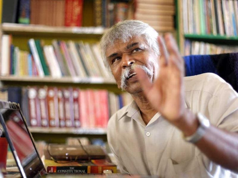 "By doing politics without taking part in elections, Thozhar Thiagu, of the Tamil National Liberation Movement, and one of the key figures behind TN's mass movement, says, he has ""been able to make political parties respond to people's sentiments and come out with a party line on refugees."" (HT photo/Sanjeev Verma)"