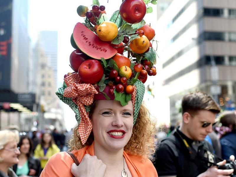 The annual parade has been a New York tradition since the late 1880s, during which participants gather, donning all sorts of spring finery and hat, from wacky to traditional. (AFP)