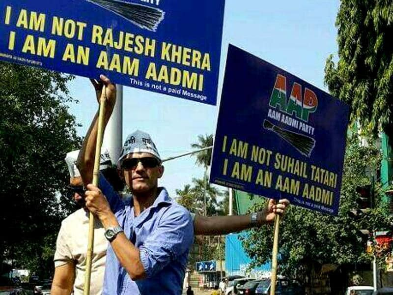 TV actor, Rajesh Khera, of Jasi Jaisi Koi Nahi fame, supports Aam Admi Party.