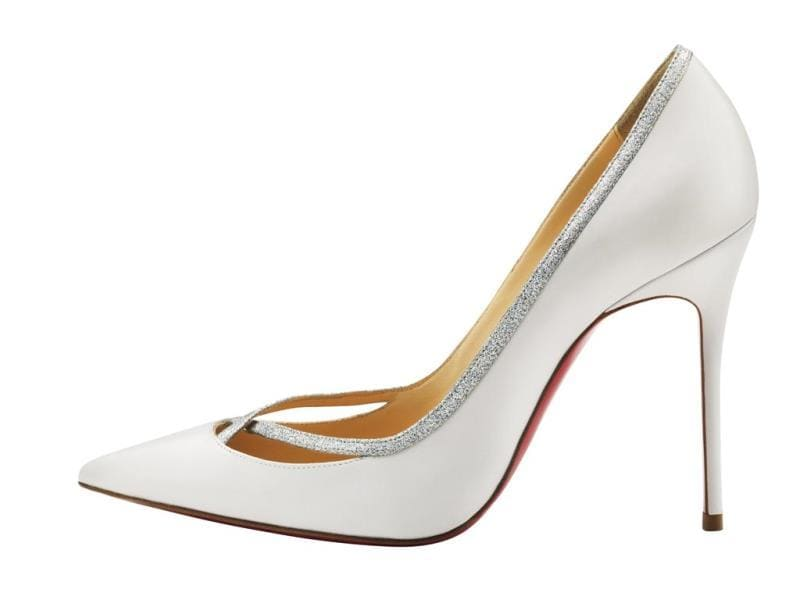 Christian Louboutin - Princess 100mm pump in Kid White - €545. (AFP)