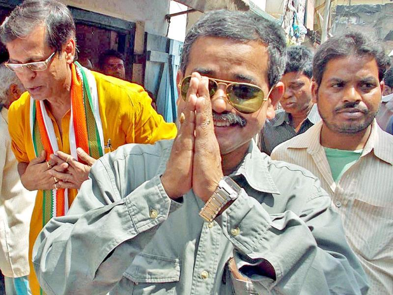 Congress leader Abhijit Mukherjee gestures during an election campaign in West Bengal on Saturday. PTI Photo