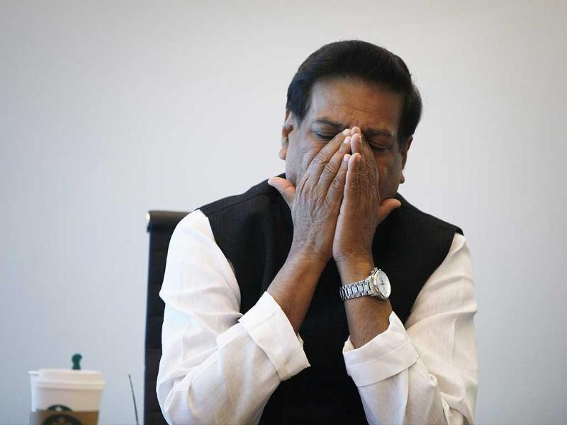 Maharashtra CM Prithviraj Chavan during an interaction with journalists at HT office in Elphinstone Road. (Kalpak Pathak/HT photo)