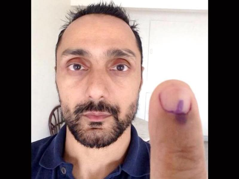 Rahul Bose casts his vote at 7:13am.