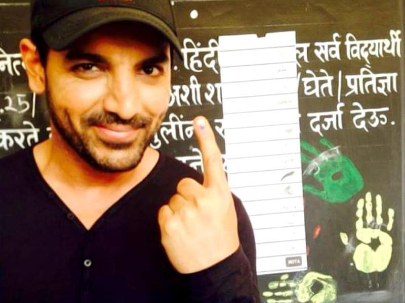 John Abraham after voting: I cast my Vote... So must every Indian who is eligible. Be responsible.