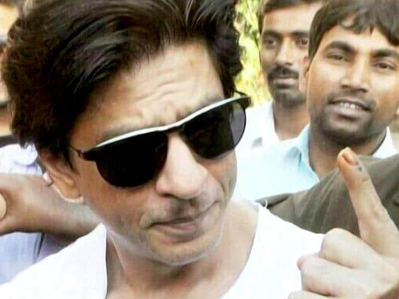 Shah Rukh Khan posts a selfie after casting vote.