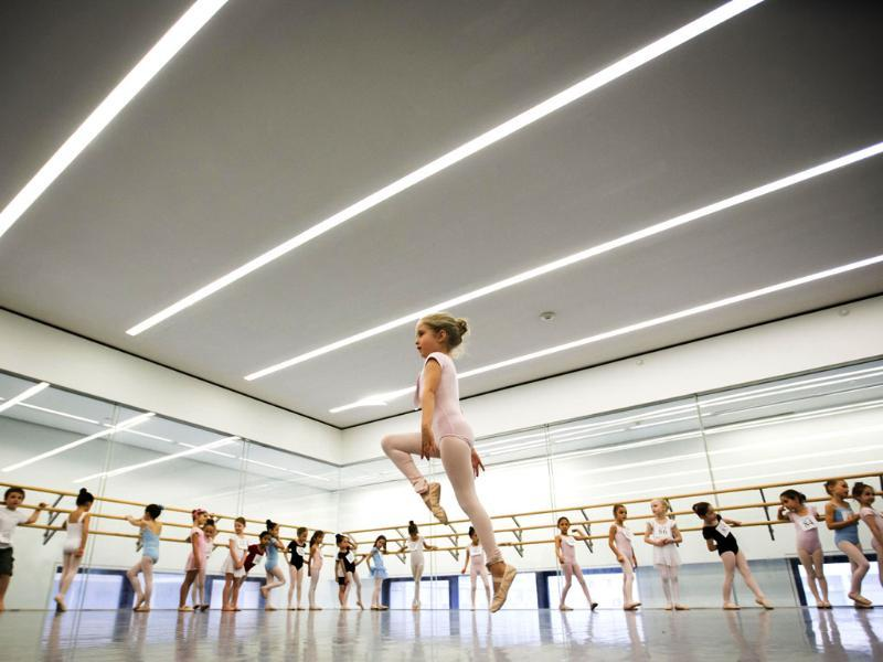 Children watch as a girl dances during an audition for the School of American Ballet in New York. (Reuters Photo)