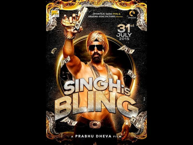 First poster of Singh Is Bling.