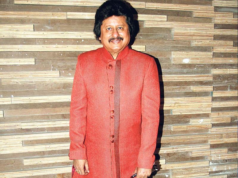 Pankaj Udhas spotted at an event in Mumbai.