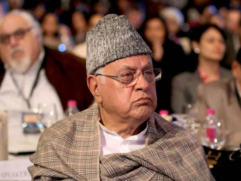 A file photo of National Conference party president Farooq Abdullah in New Delhi. (HT Photo/Sanjeev Verma)