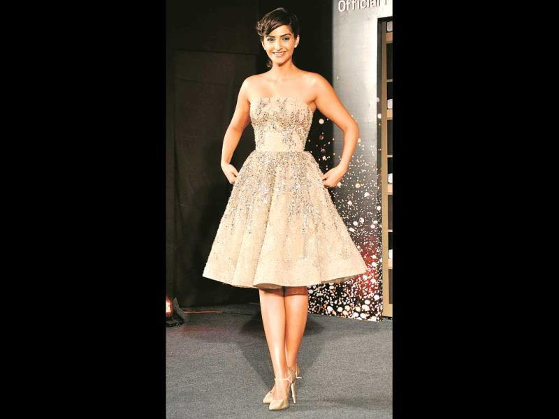 This Elia Saab frock has an ethereal quality to it, and Sonam does it full justice.