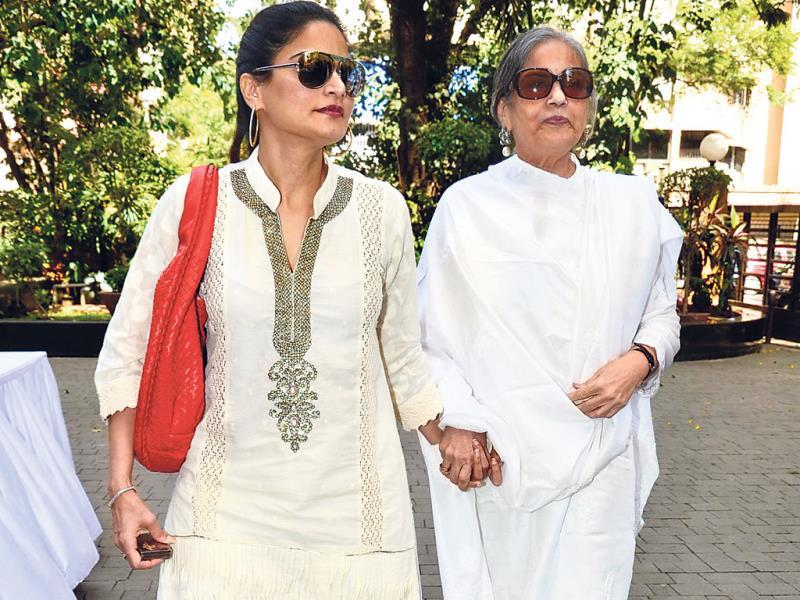 Mother-daughter duo Salma Khan (right) and Alvira Agnihotri Khan (left) were at an event in Mumbai.
