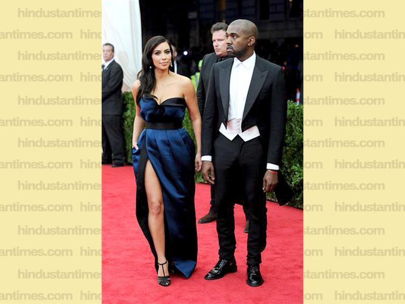 Kim Kardashian and Kanye West arrive at The Metropolitan Museum of Art's Costume Institute benefit gala celebrating Charles James: Beyond Fashion in New York. (AP)