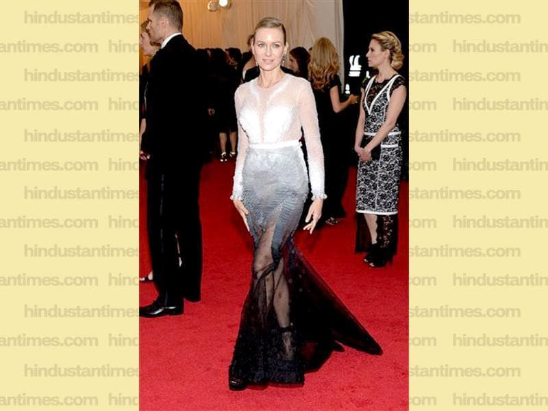 Naomi Watts attends The Metropolitan Museum of Art's Costume Institute benefit gala celebrating Charles James: Beyond Fashion in New York. (AP)