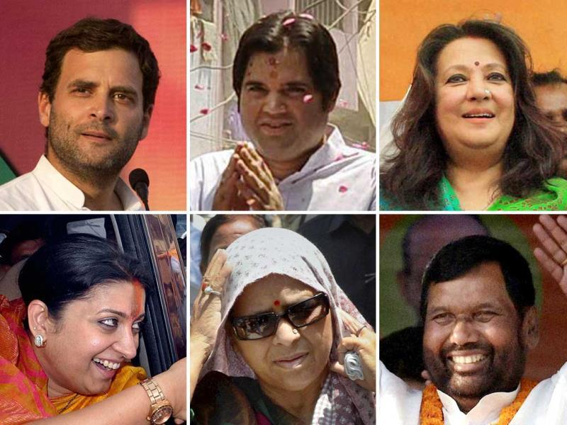 A combination picture of the key candidates in the fray for the phase 8 of the LS polls. (Agency Photo)