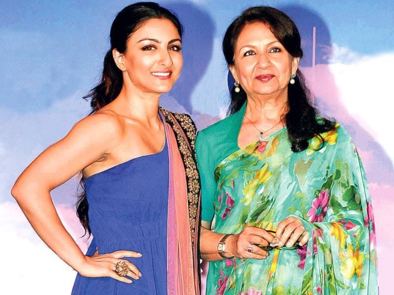 Soha Ali Khan and mother Sharmila Tagore lent their support to an educational campaign at an event in Juhu.