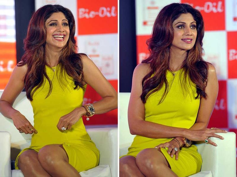 Shilpa Shetty attends the Bio-Oil Awards and celebration of Mother's Day. (AFP)