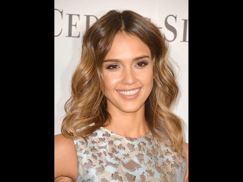 Actress Jessica Alba arrives at The Helping Hand of Los Angeles Mother's Day Luncheon.
